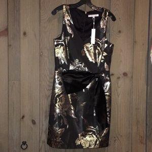 Trina Turk Cocktail Dress Gold and Black 10 NWT